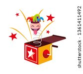 crazy emoticon with joker hat... | Shutterstock .eps vector #1361411492