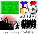 Soccer Set - Vector illustrations.  (All elements are grouped in layers and easy to edit) - stock vector