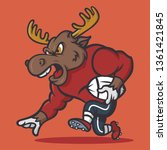 Angry Strong Moose In Football...