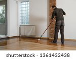 lacquering wood floors. worker... | Shutterstock . vector #1361432438