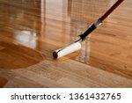 lacquering wood floors. worker... | Shutterstock . vector #1361432765