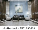 hotel lobby interior with...   Shutterstock . vector #1361456465