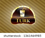 gold shiny emblem with soda... | Shutterstock .eps vector #1361464985
