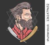 barberman barber vector | Shutterstock .eps vector #1361479652