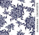 flower print. elegance seamless ... | Shutterstock . vector #1361492078