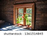 the interior of an old rural...   Shutterstock . vector #1361514845