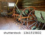 old agricultural machinery....   Shutterstock . vector #1361515832