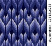 ikat seamless pattern  as cloth ...   Shutterstock .eps vector #1361516258