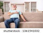 white bearded old man suffering ... | Shutterstock . vector #1361541032