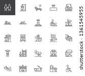 water park slides line icons... | Shutterstock .eps vector #1361545955