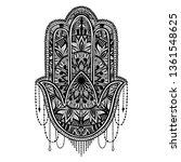 hamsa talisman religion asian.... | Shutterstock .eps vector #1361548625