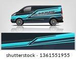 van wrap design. wrap  sticker... | Shutterstock .eps vector #1361551955