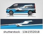 van wrap design. wrap  sticker... | Shutterstock .eps vector #1361552018