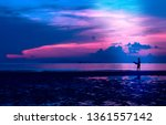 silhouette of man with... | Shutterstock . vector #1361557142