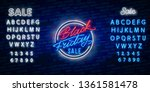 black friday sale neon sign... | Shutterstock .eps vector #1361581478