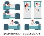 vector unhappy young women and... | Shutterstock .eps vector #1361590775