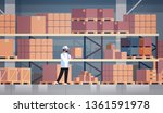 storekeeper warehouse worker... | Shutterstock .eps vector #1361591978
