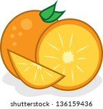 isolated oranges slices with...   Shutterstock .eps vector #136159436