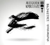 black brush stroke and...   Shutterstock .eps vector #1361594798