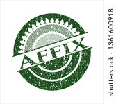 green affix distress rubber... | Shutterstock .eps vector #1361600918