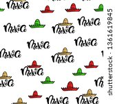 mexico doodle pattern with... | Shutterstock .eps vector #1361619845
