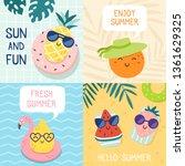 hello summer poster. funny... | Shutterstock .eps vector #1361629325
