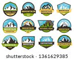 mountain expedition emblems.... | Shutterstock .eps vector #1361629385