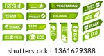 vegan mark labels. fresh... | Shutterstock .eps vector #1361629388