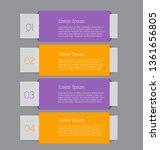 business infographics template... | Shutterstock .eps vector #1361656805