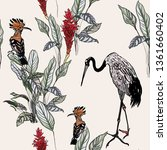 seamless pattern exotic... | Shutterstock .eps vector #1361660402