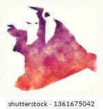 port said watercolor... | Shutterstock . vector #1361675042