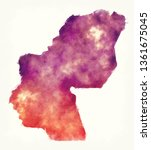 sharqia watercolor governorate... | Shutterstock . vector #1361675045