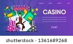 happy lucky man winner hit... | Shutterstock .eps vector #1361689268