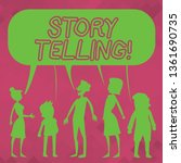 word writing text story telling.... | Shutterstock . vector #1361690735
