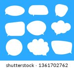 white blank speech bubbles ... | Shutterstock . vector #1361702762