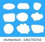 white blank speech bubbles ... | Shutterstock . vector #1361702762
