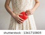 close up woman has abdominal...   Shutterstock . vector #1361710805