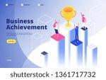 success team isometric concept. ...   Shutterstock .eps vector #1361717732