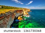 beautiful landscape with rocky... | Shutterstock . vector #1361730368