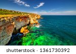 beautiful landscape with rocky... | Shutterstock . vector #1361730392