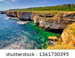 beautiful landscape with rocky... | Shutterstock . vector #1361730395