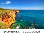 beautiful landscape with rocky... | Shutterstock . vector #1361730425