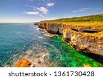 beautiful landscape with rocky... | Shutterstock . vector #1361730428