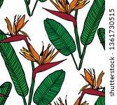 elegant seamless pattern with...   Shutterstock .eps vector #1361730515