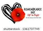 Remembrance Day Vector Card...