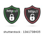 http and https protocols on... | Shutterstock .eps vector #1361738435
