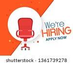 we are hiring  job vacancy... | Shutterstock .eps vector #1361739278