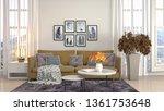 interior of the living room. 3d ... | Shutterstock . vector #1361753648