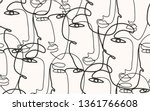 continuous line  drawing of... | Shutterstock .eps vector #1361766608
