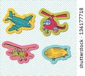 Set Of Baby Boy Plane Stickers  ...